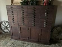 Vintage American Apothecary Cabinet