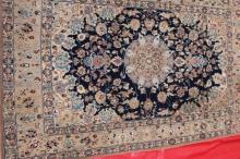 Added to Auction Old Silk Rug Persian Tabriz Qum