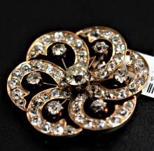 Antique 14K Gold Diamond Brooch/Pendant