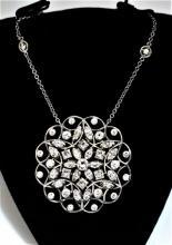 Antique 14K Gold Diamond Necklace