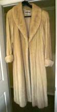 Pristine Full Length Nordstrom's White Mink Coat