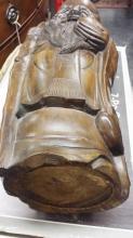 Ancient Chinese Lohan Bamboo Buddha Statue