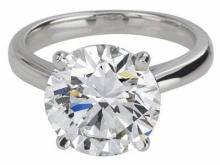 3.00 ct Diamond Ring : Platinum (GIA Certified)