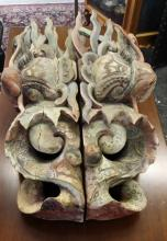Ancient Chinese Poly-Chromed Wood Carvings