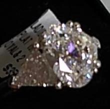 Platinum Diamond Engagement Ring w. Oval Centerstone