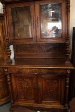 Antique English Oak Hutch