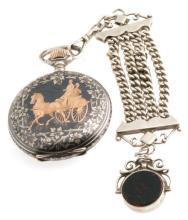 Antique Gold & Silver Pocket Watch