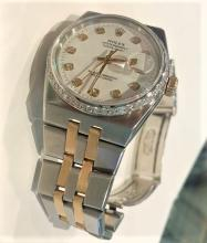 Rolex Quartz Oyster Date Just Watch w. Diamond Bezel