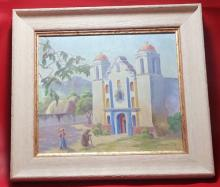 Antique Franciscan Oil Painting 18
