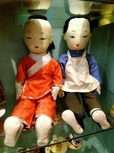 Rare Old Pair of Chinese ABA LUM Dolls 22