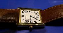 18K Gold Cartier Tank Solo Watch c2015-2016