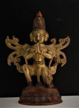 Old Bronze & Copper Tibetan Buddha God