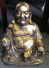 Old Chinese Gilt Bronze Buddha Maitreya