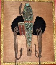 Rare Antique Tibetan Ladakh Ceremonial Headdress Perak