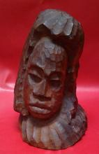 African Petrified Wood Bust