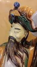 Antique Porcelain Chinese Warrior Statue