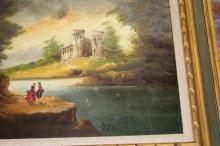 Antique Signed German Oil Painting