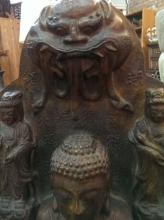 Large Old Important Chinese Buddha Sculpture