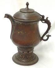 Ancient Circa 1700 Copper Incense Burner with Patina 17