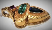 Stunning Custom Estate 18K Gold Pendant (Estate)