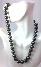 Certified Brand New South Sea Tahitian Black Pearl Strand Top AAA-AAAA Quality