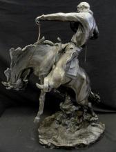 Vintage American Western Bronze Sculpture (6)