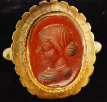 Ancient 22K Gold Roman Cameo Ring