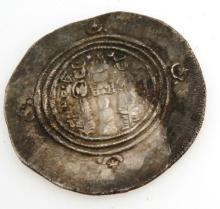 Ancient Islamic Silver Coin Arab Sassan 700 AD 3.80gr