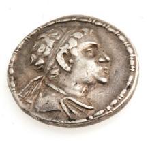 Ancient Silver Tetradrachm of King Eucratides Coin 17-gr