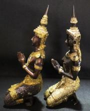 Old Bronze Thep-Panom Buddha God Thai Figurines