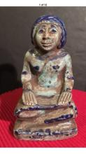 Sitting Man Ceramic Sculpture