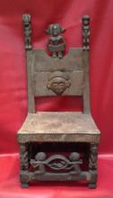 African Chokwe Tribe Queen Throne Chair
