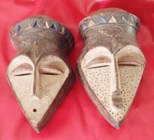 African Masks His & Her Pair