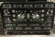 Antique Korean Black Lacquered Chest