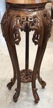 Antique Korean Elmwood Pot Stand
