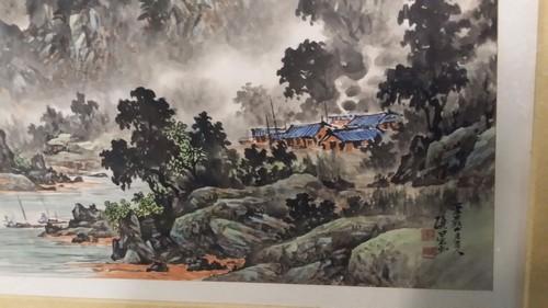 Giant Antique Korean Art Signed w. Seal Mark & Document