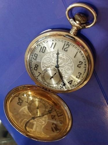14k gold elgin pocket c1910