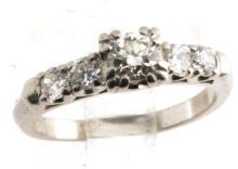 Antique Diamond Ring Platinum GLA Certified