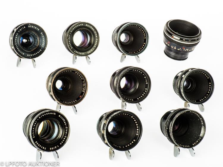 10 Arriflex 16/35mm lenses