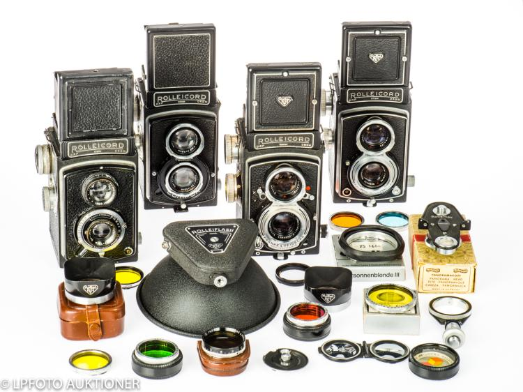 4 Rolleicord cameras