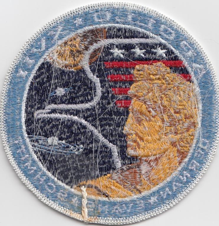 Apollo 17 Rare White Eagle Mission Patch