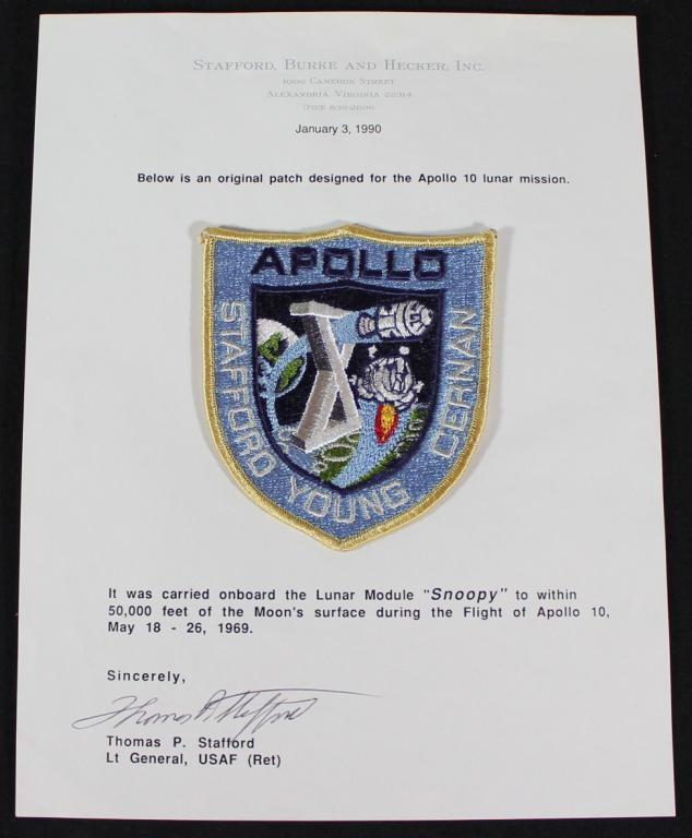 Flown to the Moon Apollo 10 Patch From Stafford