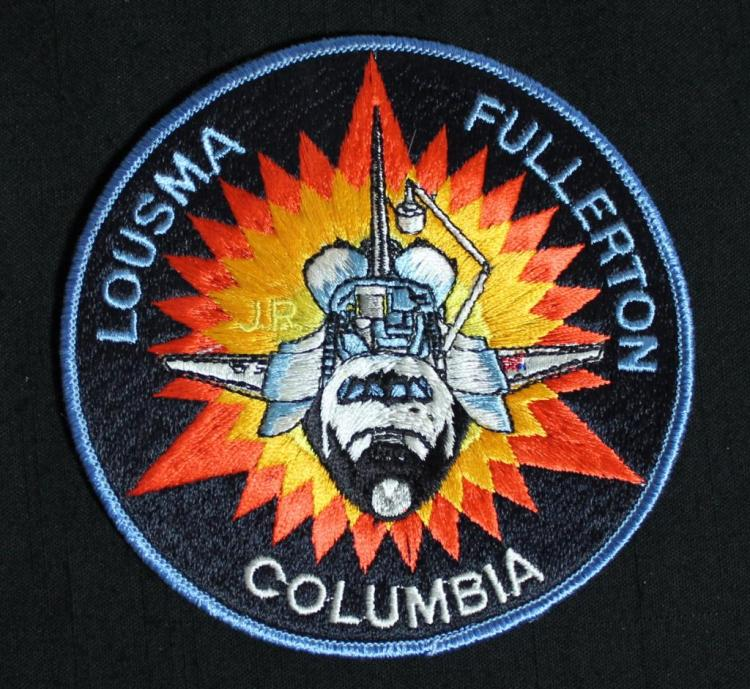 Jack Lousma's Initialed STS-3 Patch