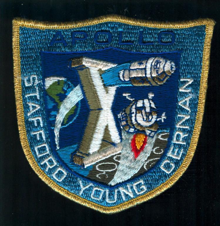 Vintage Apollo 10 Crew Patch, Grumman