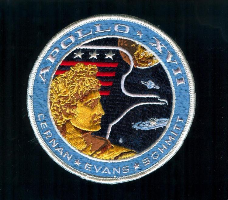 Ron Evans Apollo 17 Initialed Patch
