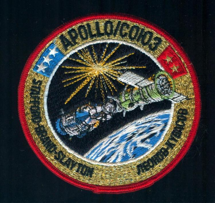 Karol Bobko's Scarce ASTP Crew Patch With COA