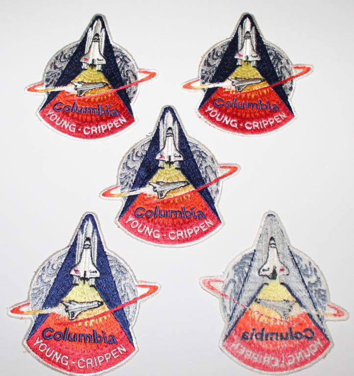 Karol Bobko's Five STS-1 4-Color Exhaust Patches