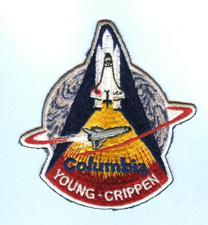 STS-1 Black Outline Variant Mission Patch