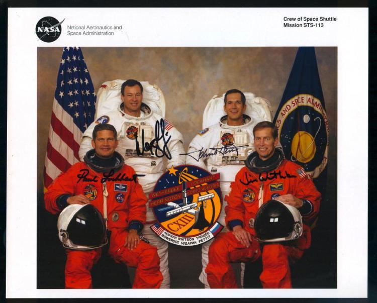 STS-113 Crew-Signed NASA Litho