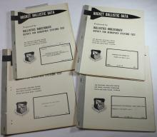 Four Rocket Ballistic Data Reports, 1962